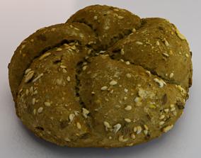 3D asset Brown Bread