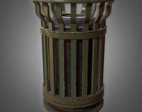 Trash Bin 1 - PBR Game Ready model 3D asset