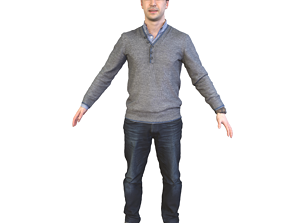 3D model No306 - Male T Pose