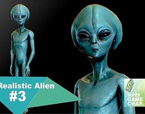 Realistic Alien 3 3D asset