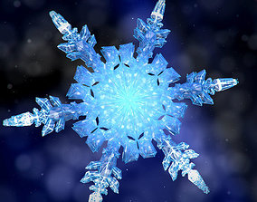 Snowflake Growth Animated 3d Model And Obj animated