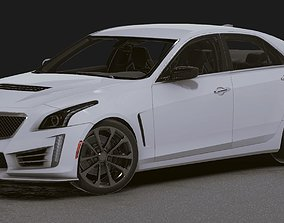 3D asset Realistic Mobile Car 18 Cadillac CTS