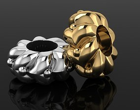 3D printable model gold and silver bead charm
