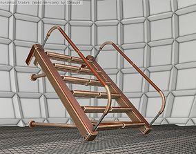 3D asset Wood Stairs Construction Element 17