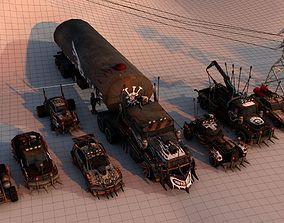 3D model Battle Car Package