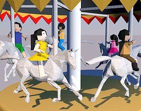 3D Origami Horse Spinner