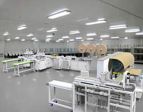 3D model Mask machine Assembly
