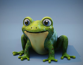 Cartoon Frog Animated 3D Model animated low-poly