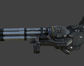 Sci-Fi Chaingun 3D asset