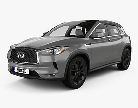 3D Infiniti QX50 with HQ interior 2019