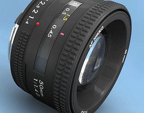 3D model Lens Rigged