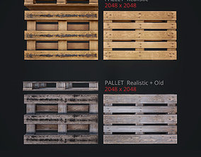 Pallet props low poly and game ready 3D asset