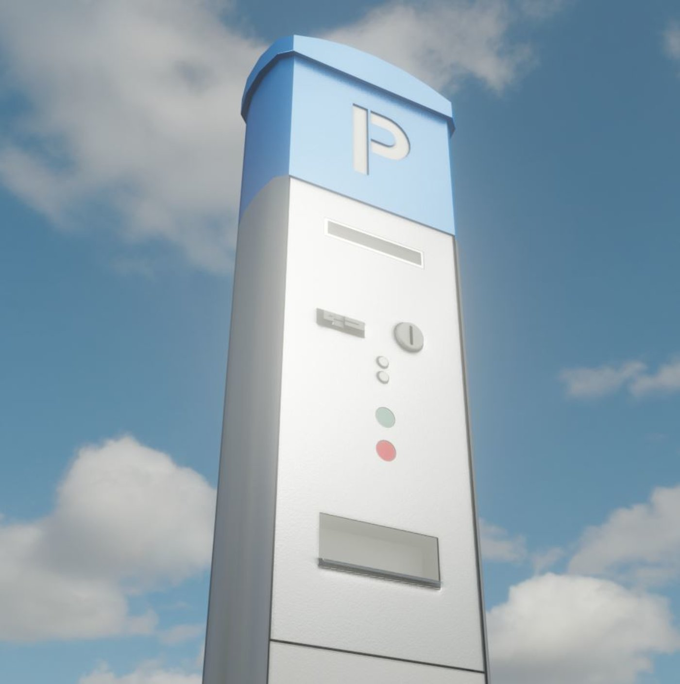 Parking Machine Low-Poly Version