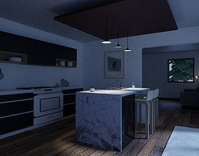 3D model Early morning kitchen