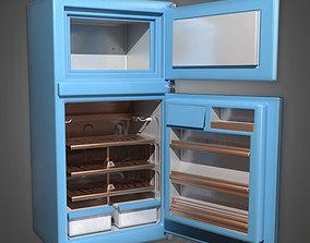 3D asset Retro Refrigerator Midcentury Collection PBR Game