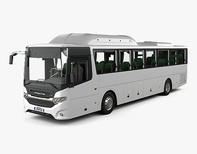 3D model Scania Interlink Bus with HQ interior 2015