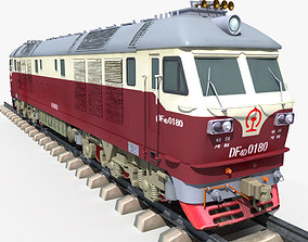Dongfeng 4D Diesel Locomotive 3D model