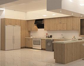 kitchen design 3D asset
