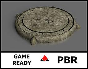 3D model low-poly Platform