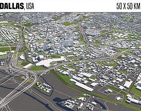 map 3D Dallas