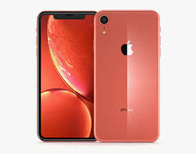 3D model Apple iPhone XR Coral