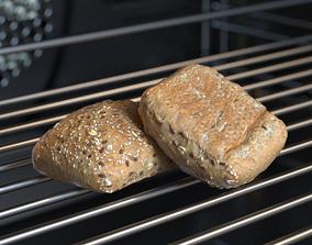 Bread Multigrain Roll Photoscan 3D model
