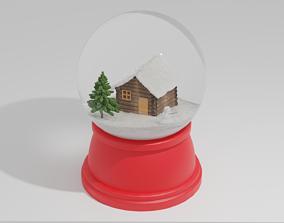 Christmas snow ball 3D
