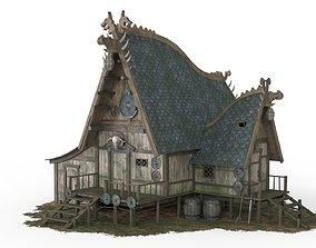 3D asset Viking House 04