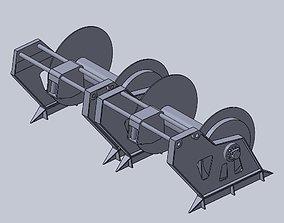 Fishing trawler winch 3D print model tool