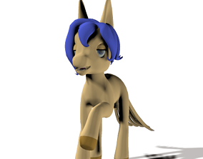 80 s style my little pony 3D model