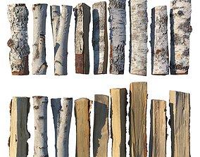 Birch firewood photogrammetry 3D