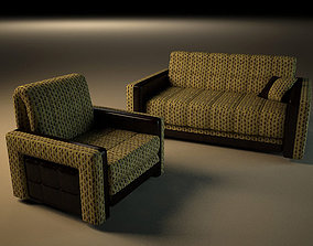 3D printable model Forest sofa and armchair