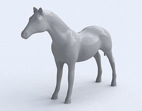 Horse 3D asset low-poly