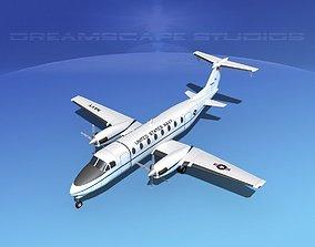 Beechcraft C-12J Huron US Navy 3D