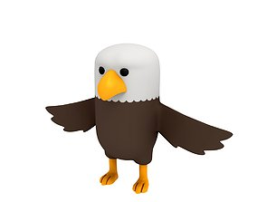 3D model fly Eagle Character