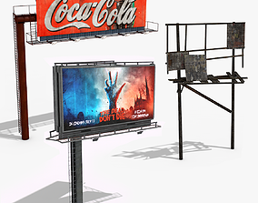 Billboards Collection 3D model