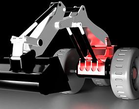 3D printable model construction Excavator