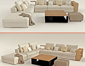 Sofa FLEXFORM Groundpiece 3D