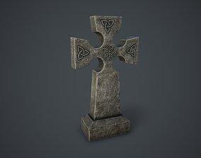 Stone Cross 3D asset