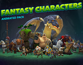 Fantasy animated characters pack 3D model