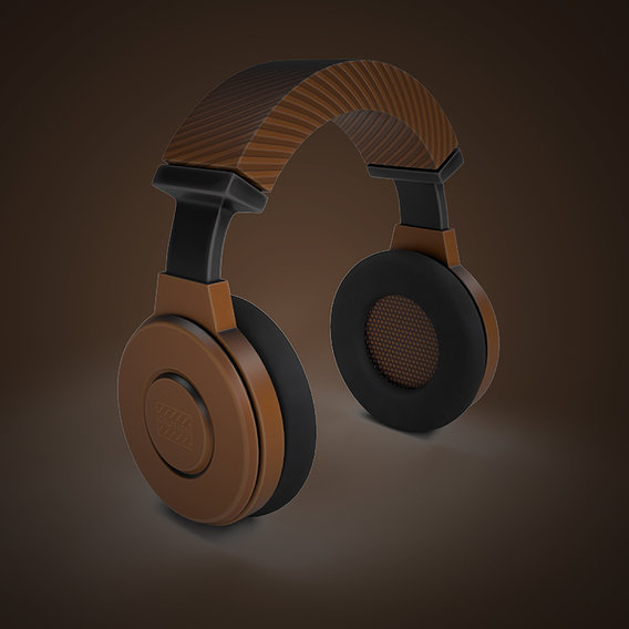 Stylized Headphone