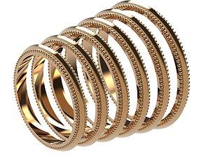 3D print model A Package 6 Classic Minimalism Ring Boho 3
