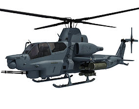 Viper Military Helicopter 3D model