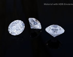 Diamond with PBR material on accurate geometry model 3D
