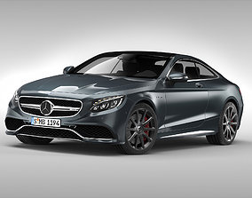 3D Mercedes Benz S63 AMG Coupe 2015