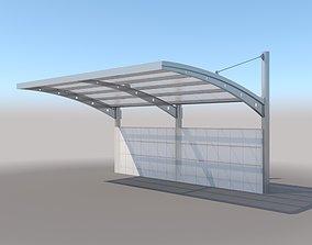 3D model Carport Design With Steel Construction