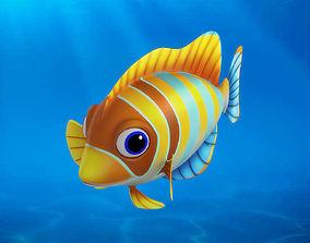 Cartoon Fish12 Rigged Animated 3D