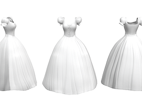 3D model Fairy Wedding Gown