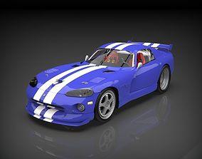 dodge viper 3d model dodgeviper VR / AR ready