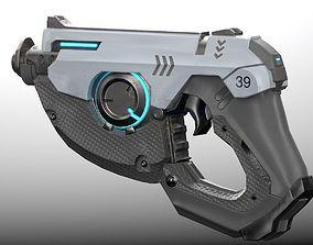 Sci fi gun 3D asset